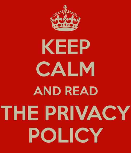 Keep Calm and Read the Privacy Policy